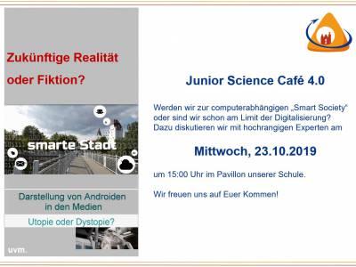 Herzliche Einladung zum Junior Science Café 4.0